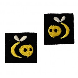 FTC Bees - Embroidered Pips Pair