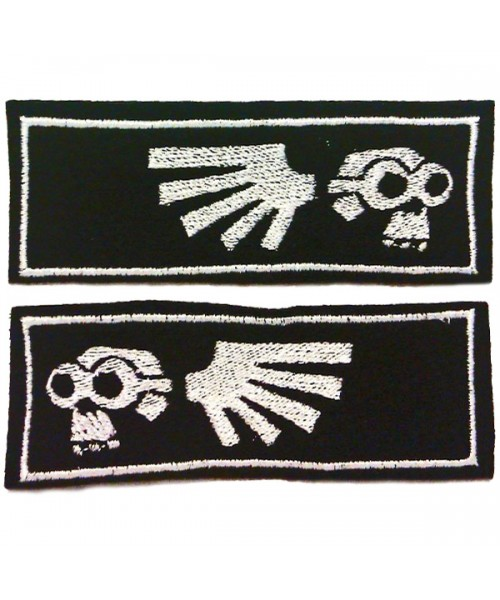 Doom-Goggle Patches - Embroidered Collar-trim Pair