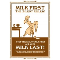 MILK LAST - The Silent Killer - A3 Print